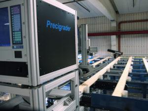 Precigrader hållfasthetssortering i tvärmatande linje